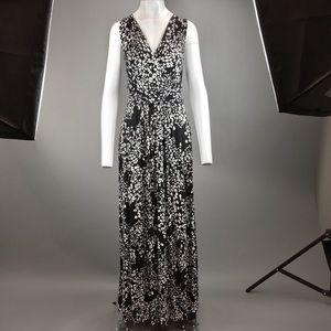 Black Leopard Print Maxi Dress